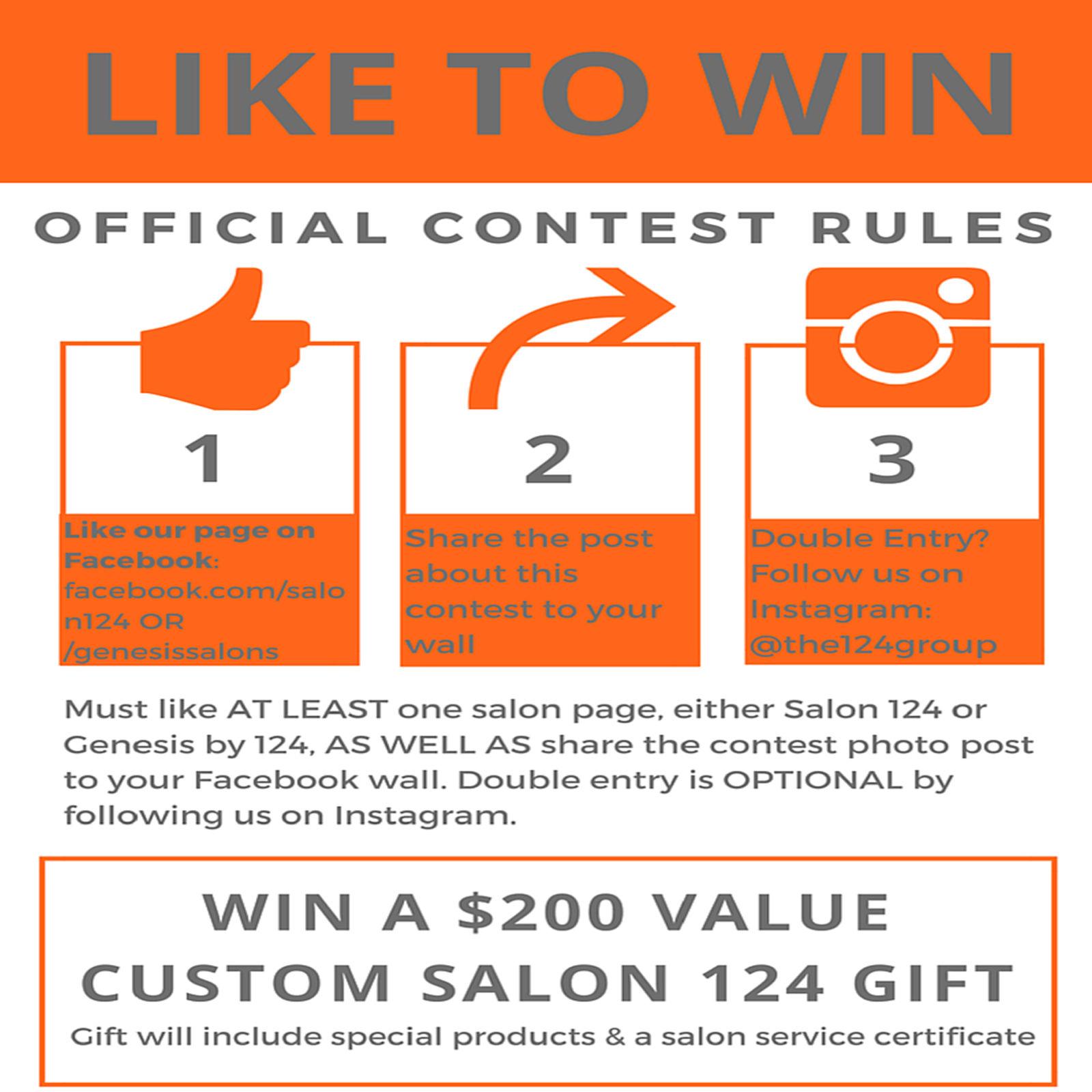 salon 124 social contest